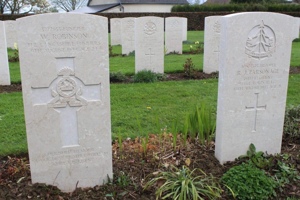 William Robinson grave Bayeux War Cemetery