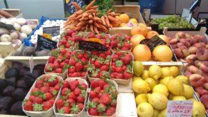 summer market in Normandy