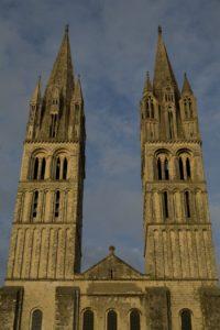 Caen abbey West facade