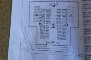 plan of Ryes war cemetery