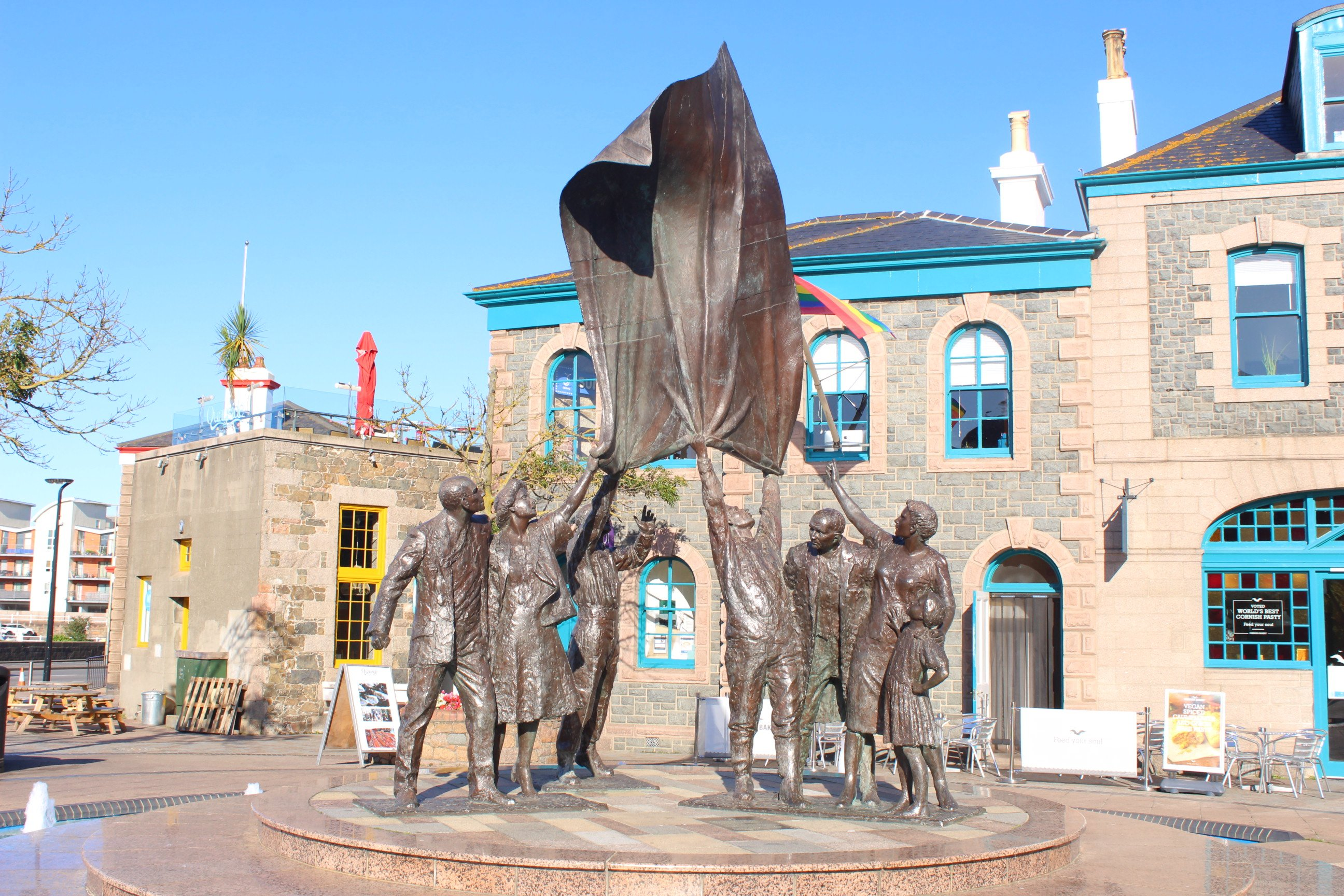 Liberation Square in St Helier, Jersey